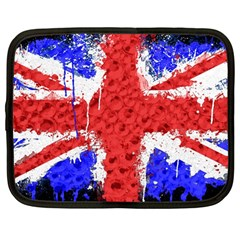 Distressed British Flag Bling 12  Netbook Case by artattack4all