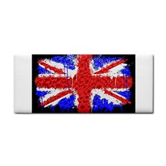 Distressed British Flag Bling Hand Towel by artattack4all