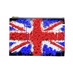 Distressed British Flag Bling Large Makeup Purse by artattack4all