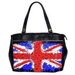 Distressed British Flag Bling Twin Sided Oversized Handbag by artattack4all