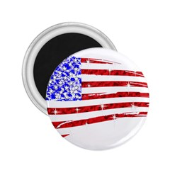 Sparkling American Flag Regular Magnet (round) by artattack4all