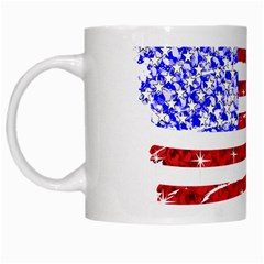 Sparkling American Flag White Coffee Mug by artattack4all