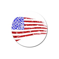 Sparkling American Flag Large Sticker Magnet (round) by artattack4all