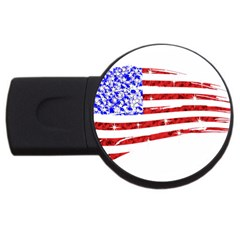 Sparkling American Flag 2gb Usb Flash Drive (round) by artattack4all