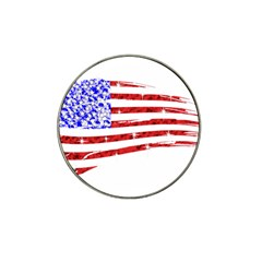 Sparkling American Flag Golf Ball Marker (for Hat Clip) by artattack4all