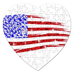 Sparkling American Flag Jigsaw Puzzle (heart) by artattack4all