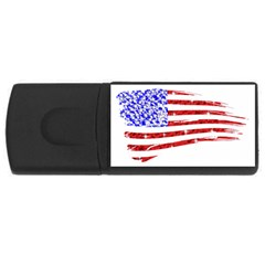 Sparkling American Flag 4gb Usb Flash Drive (rectangle)