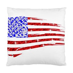 Sparkling American Flag Twin Sided Cushion Case by artattack4all