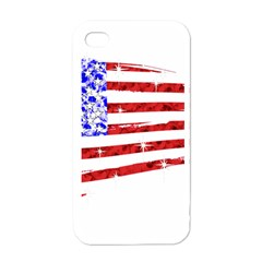 Sparkling American Flag White Apple Iphone 4 Case by artattack4all