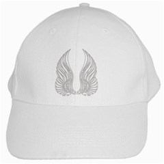 Angel Bling Wings White Baseball Cap by artattack4all