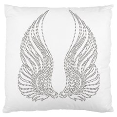 Angel Bling Wings Large Cushion Case (one Side) by artattack4all