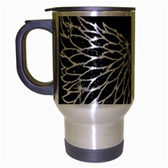 Bling Wings And Cross Brushed Chrome Travel Mug by artattack4all