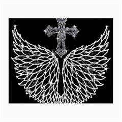 Bling Wings And Cross Twin Sided Glasses Cleaning Cloth by artattack4all