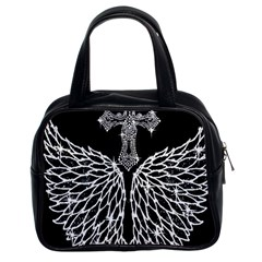 Bling Wings And Cross Twin Sided Satched Handbag by artattack4all