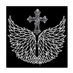 Bling Wings And Cross Face Towel by artattack4all