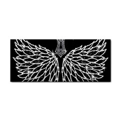 Bling Wings And Cross Hand Towel by artattack4all