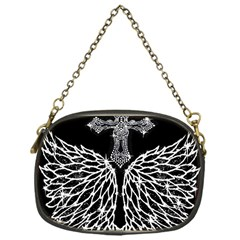 Bling Wings And Cross Single Sided Evening Purse by artattack4all