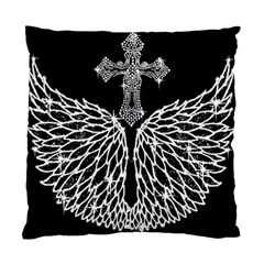 Bling Wings And Cross Twin Sided Cushion Case by artattack4all