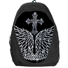 Bling Wings And Cross Backpack Bag by artattack4all