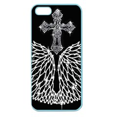 Bling Wings And Cross Apple Seamless Iphone 5 Case (color) by artattack4all