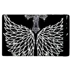 Bling Wings And Cross Apple Ipad 3/4 Flip Case by artattack4all
