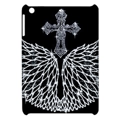 Bling Wings And Cross Apple Ipad Mini Hardshell Case by artattack4all