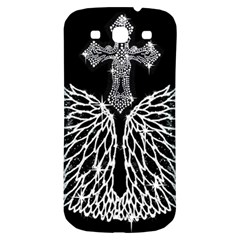 Bling Wings And Cross Samsung Galaxy S3 S Iii Classic Hardshell Back Case by artattack4all