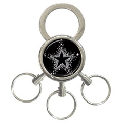 Sparkling Bling Star Cluster 3-ring Key Chain by artattack4all