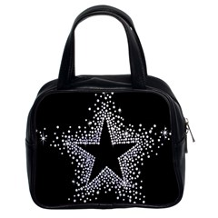 Sparkling Bling Star Cluster Twin Sided Satched Handbag by artattack4all