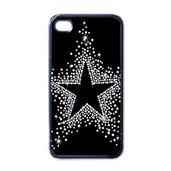 Sparkling Bling Star Cluster Black Apple Iphone 4 Case by artattack4all
