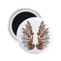 Brown Feather Wing Regular Magnet (round) by artattack4all