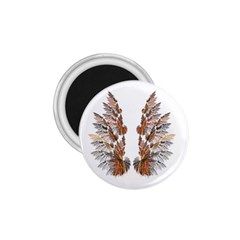 Brown Feather Wing Small Magnet (round) by artattack4all
