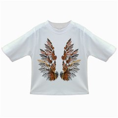 Brown Feather Wing Baby T Shirt by artattack4all