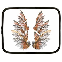 Brown Feather Wing 12  Netbook Case by artattack4all