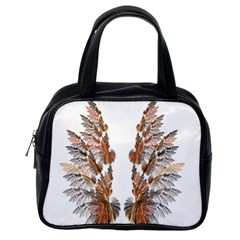 Brown Feather Wing Single Sided Satchel Handbag by artattack4all