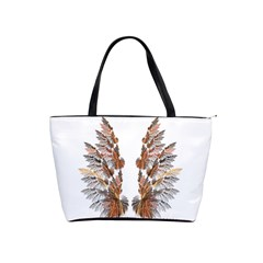 Brown Feather Wing Large Shoulder Bag by artattack4all