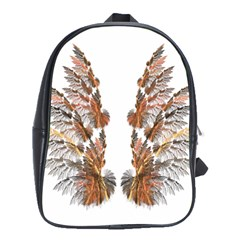 Brown Feather Wing Large School Backpack by artattack4all