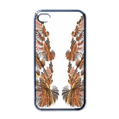 Brown Feather Wing Black Apple Iphone 4 Case by artattack4all