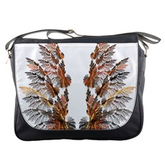 Brown Feather Wing Messenger Bag by artattack4all