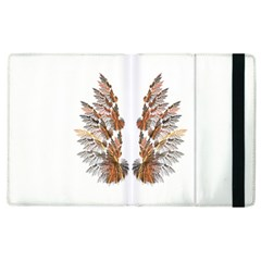 Brown Feather Wing Apple Ipad 2 Flip Case by artattack4all
