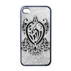 Diamond Bling Lion Black Apple Iphone 4 Case by artattack4all