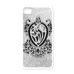 Diamond Bling Lion White Apple Iphone 4 Case by artattack4all