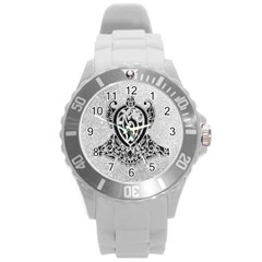 Diamond Bling Lion Round Plastic Sport Watch Large by artattack4all