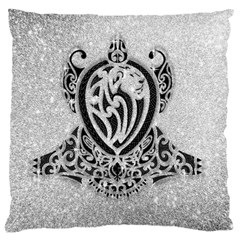 Diamond Bling Lion Large Cushion Case (two Sides) by artattack4all