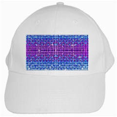 Rainbow Of Colors, Bling And Glitter White Baseball Cap by artattack4all
