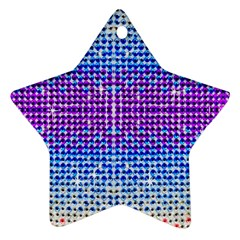 Rainbow Of Colors, Bling And Glitter Ceramic Ornament (star) by artattack4all