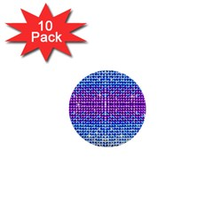 Rainbow Of Colors, Bling And Glitter 10 Pack Mini Button (round)