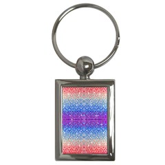 Rainbow Of Colors, Bling And Glitter Key Chain (rectangle) by artattack4all