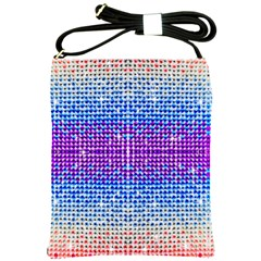 Rainbow Of Colors, Bling And Glitter Cross Shoulder Sling Bag by artattack4all