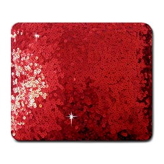 Sequin And Glitter Red Bling Large Mouse Pad (rectangle) by artattack4all